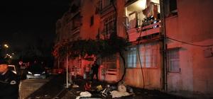 Kendine zarar veren kişi evinde yangın çıkardı