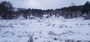 Gördes'e mevsimin ilk karı düştü