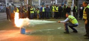 DSİ'de yangın söndürme tatbikatı yapıldı