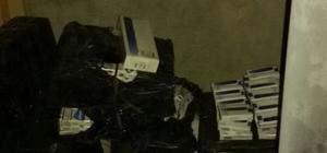 Kayseri'de 2 bin 400 paket kaçak sigara ele geçirildi