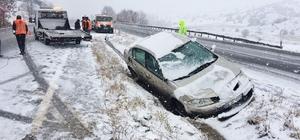 Sungurlu'da kar kaza yaptırdı