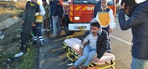Minibüs takla attı: 4 yaralı
