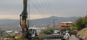 Kulp belediyesinden yol göçüklerine karşı kalıcı çözüm