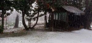 Gümeli'ye mevsimin ilk karı düştü