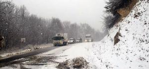 Tokat'ta kar yağışı ulaşımı etkiledi