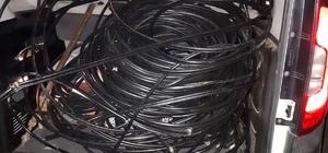 Erzurum'da kablo hırsızlığına 2 tutuklama