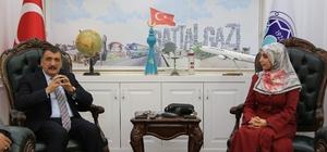 Başkan Gürkan ile Çolak yetimlere yapılan yardımları konuştu
