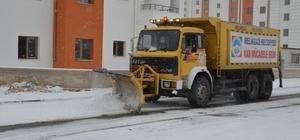 Melikgazi'de kar temizleme ekipleri harekete geçti