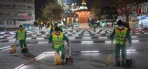 Osmangazi temizlik ekipleri gece gündüz çalışıyor