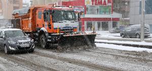 """Erzurum'da """"kar timleri"""" iş başında"""