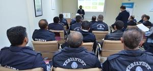 Yeşilyurt Belediyesinden zabıtalara eğitim