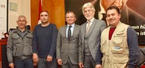 Lapseki'de basın mensuplarından jandarma ve emniyete ziyaret