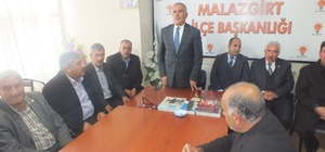 AK Parti İl Başkanı Yaktı'dan Malazgirt'e ziyaret