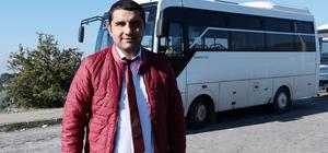 Halk otobüsü şoförü, fenalaşan yolcuyu hastaneye götürdü