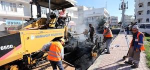 Manavgat Bahçelievler'e sıcak asfalt