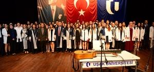 """Uşak Üniversitesi Tıp Fakültesinde ilk defa """"Beyaz Önlük Giyme Töreni"""" gerçekleştirildi"""