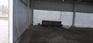 Sungurlu'da pazarcılar üşümeyecek