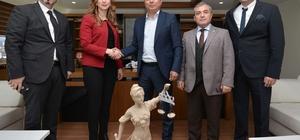 Başkan Uysal'a meslektaş ziyareti