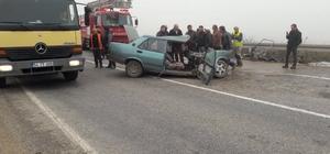 Bilecik'te otomobil ile kamyon çarpıştı: 7 yaralı