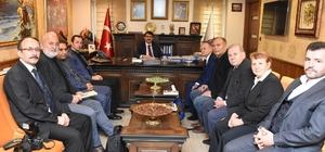 Başkan Çelik, Almanya'daki Türk gazetecileri ağırladı
