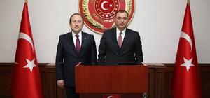 Elazığ Valisi Çetin Oktay Kaldırım, Vali Ali Hamza Pehlivan'ı ziyaret etti