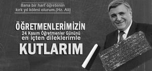 Rektör Taşaltın'dan Öğretmenler Günü mesajı