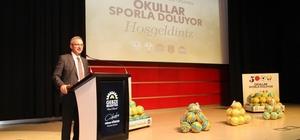 Başkan Köşker'den okullara sportif destek