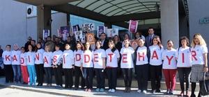 Kadın sağlıkçılardan 'kadına şiddete hayır' çağrısı