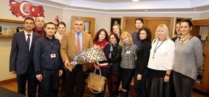 Yabancı öğretmenler Başkan Özgüven'e ziyaret