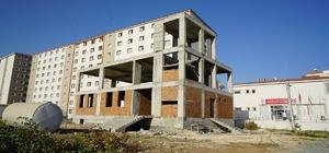 Altınşehir mahallesi Taziye Evi inşaatı yükseliyor