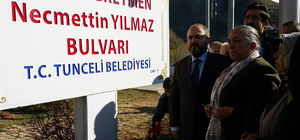 Tunceli'de şehit öğretmen Necmettin Yılmaz anıldı