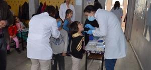 Ağız ve Diş Sağlığı Haftasında öğrencilere eğitim verildi