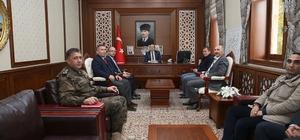 Milli Piyango Daire Başkanı Ahmet Yılmaz Vali Ali Hamza Pehlivan'ı ziyaret etti