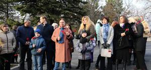 Andrey Karlov anıtı açıldı