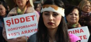 Kırklareli'nde kadınlar şiddete karşı yürüdü