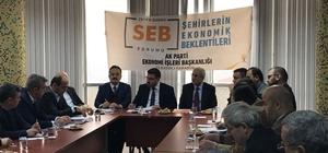 """Karabük'te """"Şehirlerin Ekonomik Beklentileri"""" forumu gerçekleştirildi"""