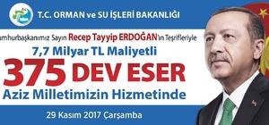 umhurbaşkanı Erdoğan'ın açacağı eserlerden Aydın da payını alacak