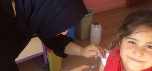 Pazarlar'da öğrencilere aşı