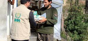 Türkmendağı'na insani yardım