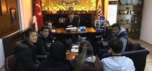 Lise öğrencileri Başkan Cankul'u ziyaret etti