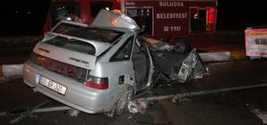 Amasya'da otomobil ile kamyonet çarpıştı: 2 ölü, 4 yaralı