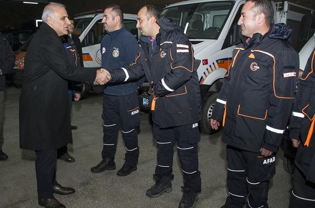 Vali Zorluoğlu'ndan AFAD İl Müdürlüğüne ziyaret