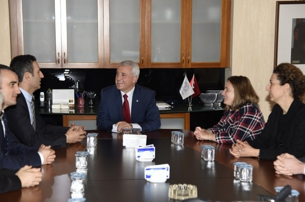 Avrupa Birliği Bakanlığı Müsteşar Yardımcısı Ahmet Yücel'den Rektör Gündoğan'a ziyaret