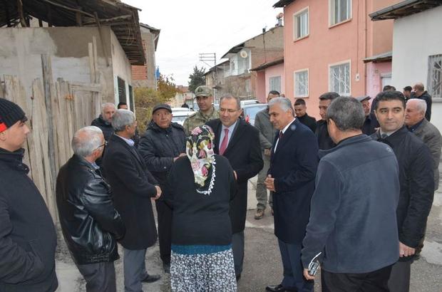Malatya'da bazı evlerin işaretlenmesi