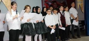 Engelli öğrencilerden ilahi konseri