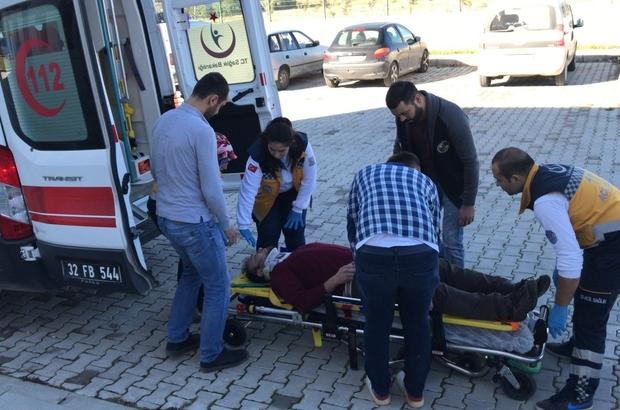 Perde montajı yaparken düşen ofis çalışanı yaralandı