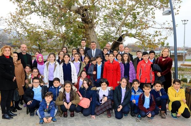 Başkan Gürkan, çevreye duyarlı öğrencilerle biraraya geldi