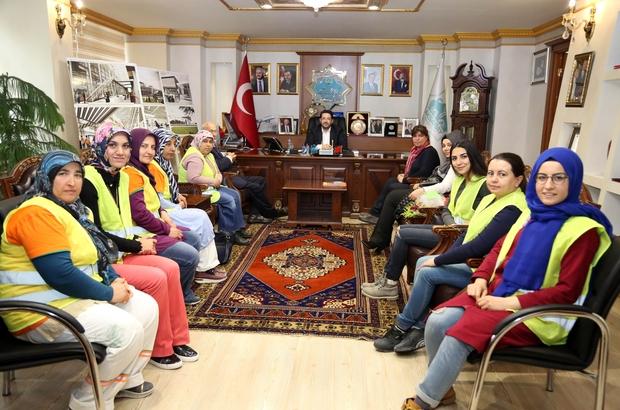 Türkiye'de bir ilke imza atan kadınlar Başkan Yazgı ile buluştu