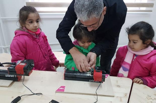 Anaokulu öğrencileri inovasyon merkezini gezdi