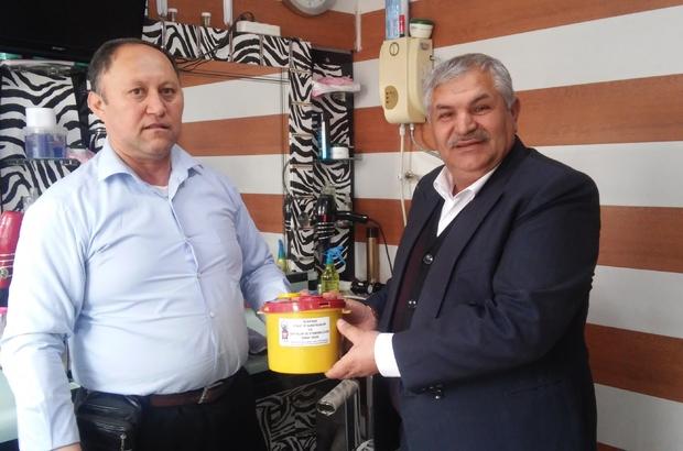 Berber ve kuaförlerden jilet toplama kampanyasına destek